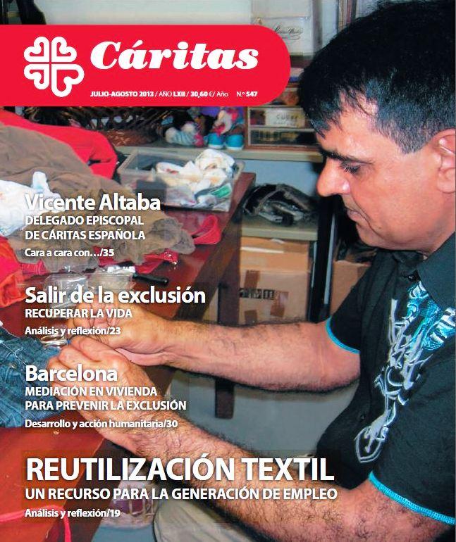 Portada de la darrera edició de la revista de Càritas